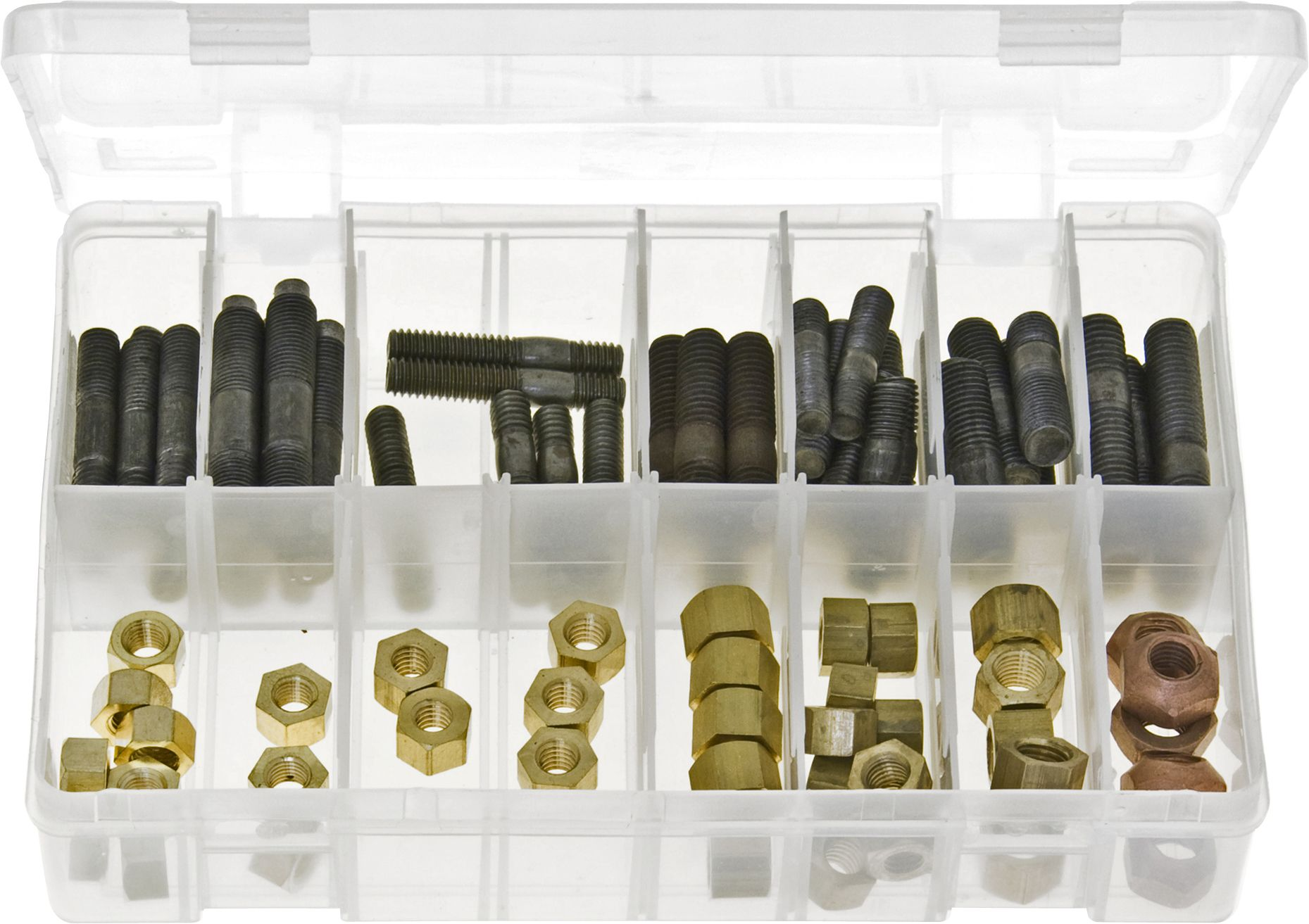 Assortment Box of Exhaust Manifold Studs & Nuts - Metric & Imperial